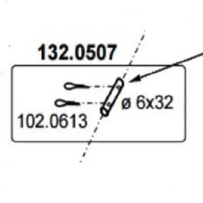 Mod. 500 Achse 6x38 mit Splintloch