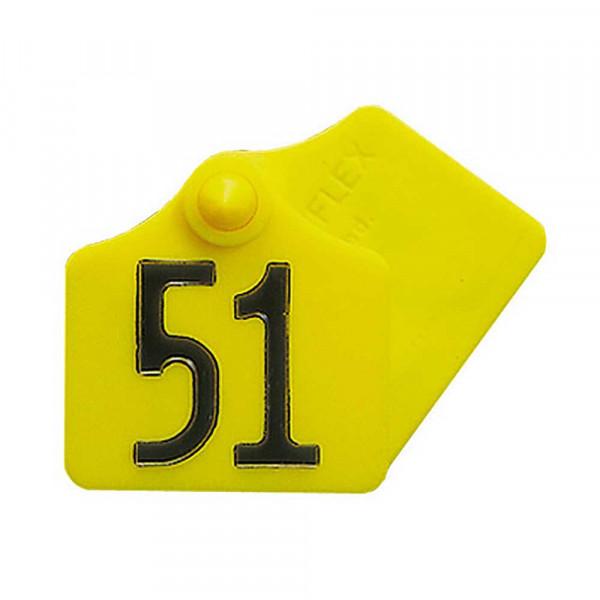 Ohrenmarke Gr. I Prima-Flex gelb blanko 46 x 44 mm