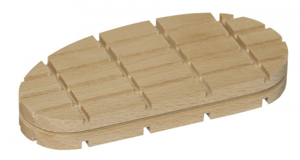 Holzklotz in flacher Ausführung 112 mm lang