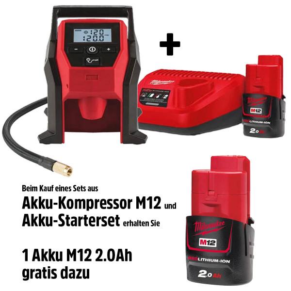 Kompressor M12 Starter Set M12 + 1 Akku gratis