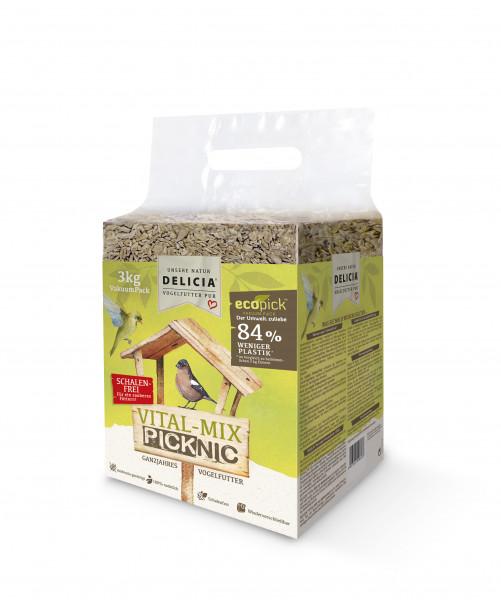 Ergänzungsfuttermittel für freilebende Gartenvögel Delicia Vital Mix Picknick 3kg