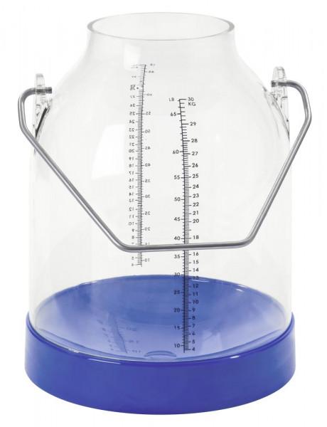 Melkeimer blau, Bügelhöhe 143 mm (Standard)