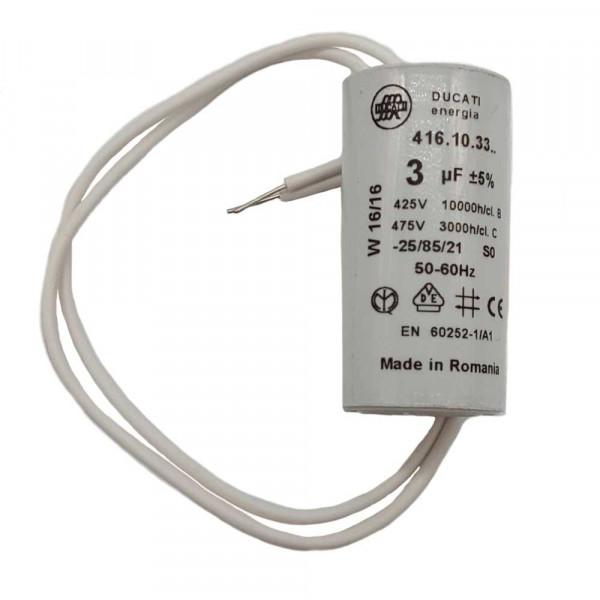 Kondensator 3 MF/400 v, passend zu Lüftermotor Tecumseh L'Unité  Kühlungen 230 Volt 150 - 175 W