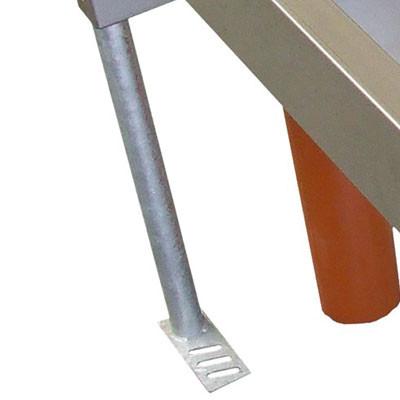 Füße verzinkt für Schnellablauf-Trog (Satz)