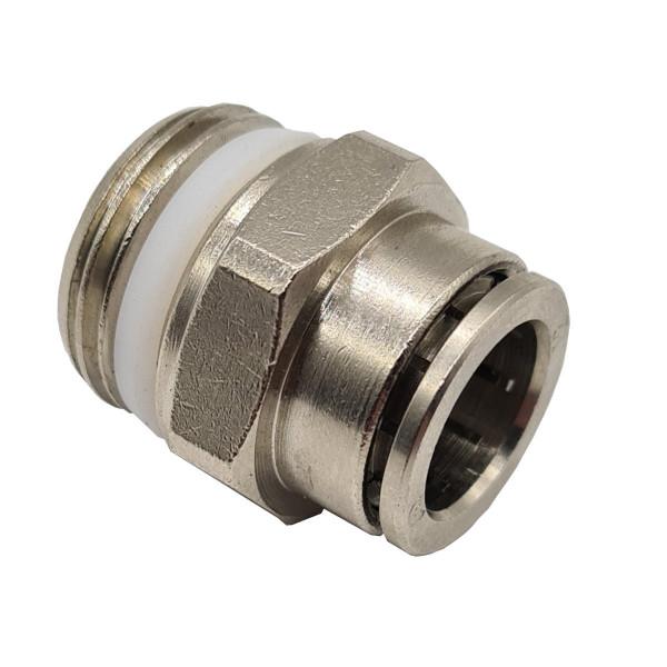 Gerade-Steckverbinder D 12mm x G1/2 Schnellverschluss